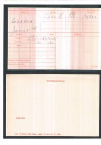 my grandfather James Thomas Gernon's army record